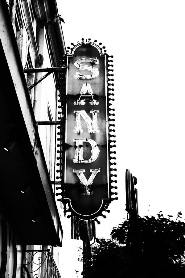 Agen Photograph - Vintage Sign In Mono by Georgia Fowler