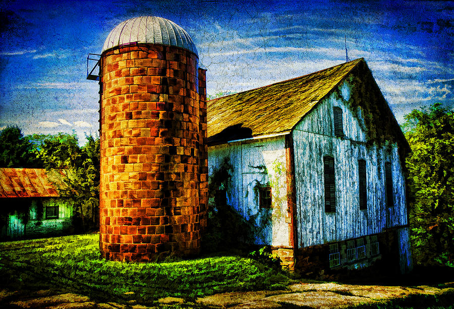 Storage Photograph - Vintage Silo by Trudy Wilkerson