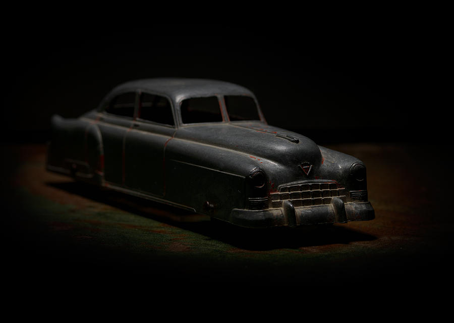 Old Toys Photograph - Vintage Silver Toy Car by Art Whitton