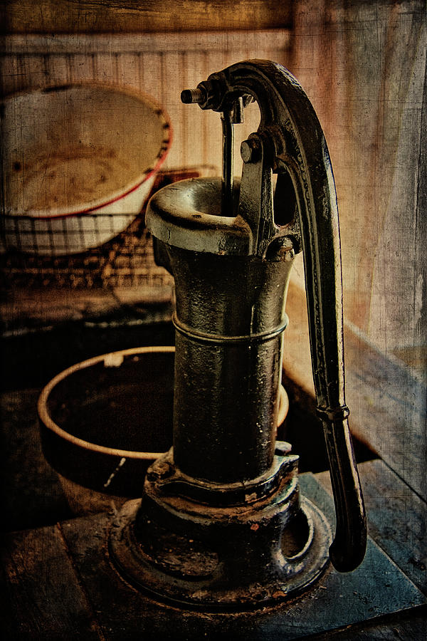 Pump Digital Art - Vintage Sink by Lana Trussell