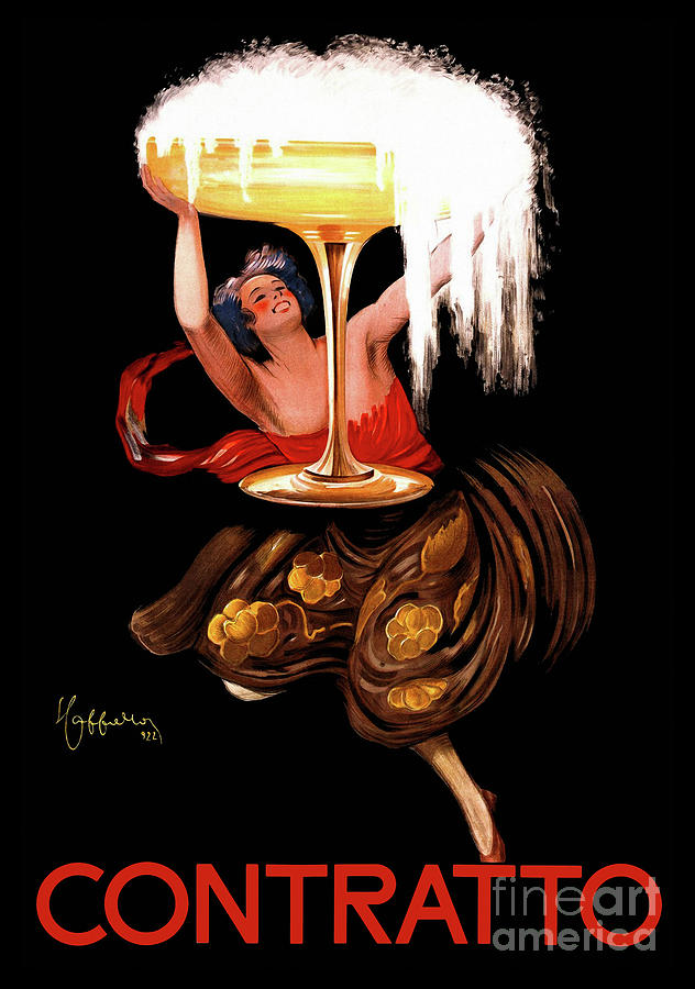 Bubbly Painting - Vintage Sparkling Wine Advertisement by Tina Lavoie
