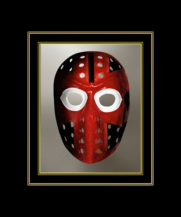 Vintage Sports Hockey Goalie Mask 6 Digital Art By Patricia Keith
