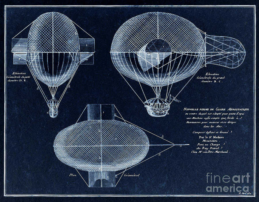 Vintage steampunk french airship blueprint drawing from 1784 steampunk digital art vintage steampunk french airship blueprint drawing from 1784 by tina lavoie malvernweather Image collections