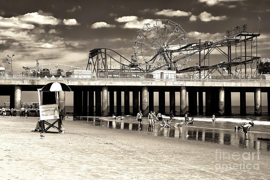Beach Photograph - Vintage Steel Pier by John Rizzuto