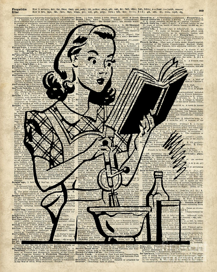 Vintage Stencil Of Cooking Girl Over Old Dictionary Book Page