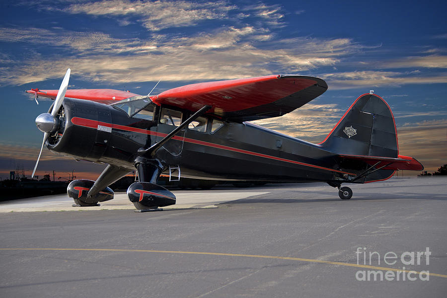 Vintage Stinson Reliant V 77 Aircraft Photograph By Dave