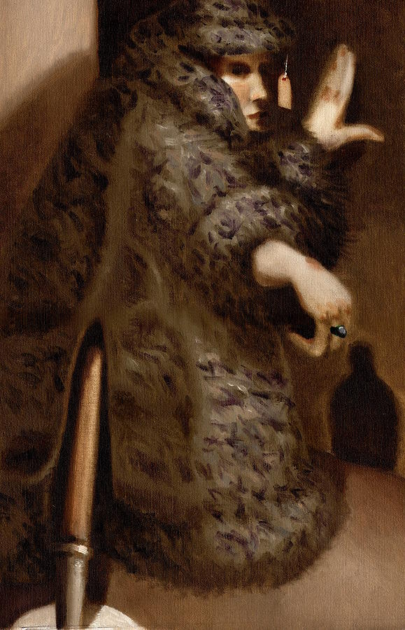 Mannequin Painting - Tommervik Vintage Storefront Mannequin Art Print by Tommervik