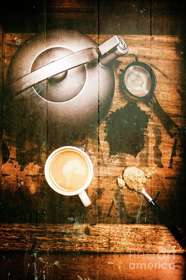 Vintage Tea Crate Cafe Art Photograph By Jorgo Photography