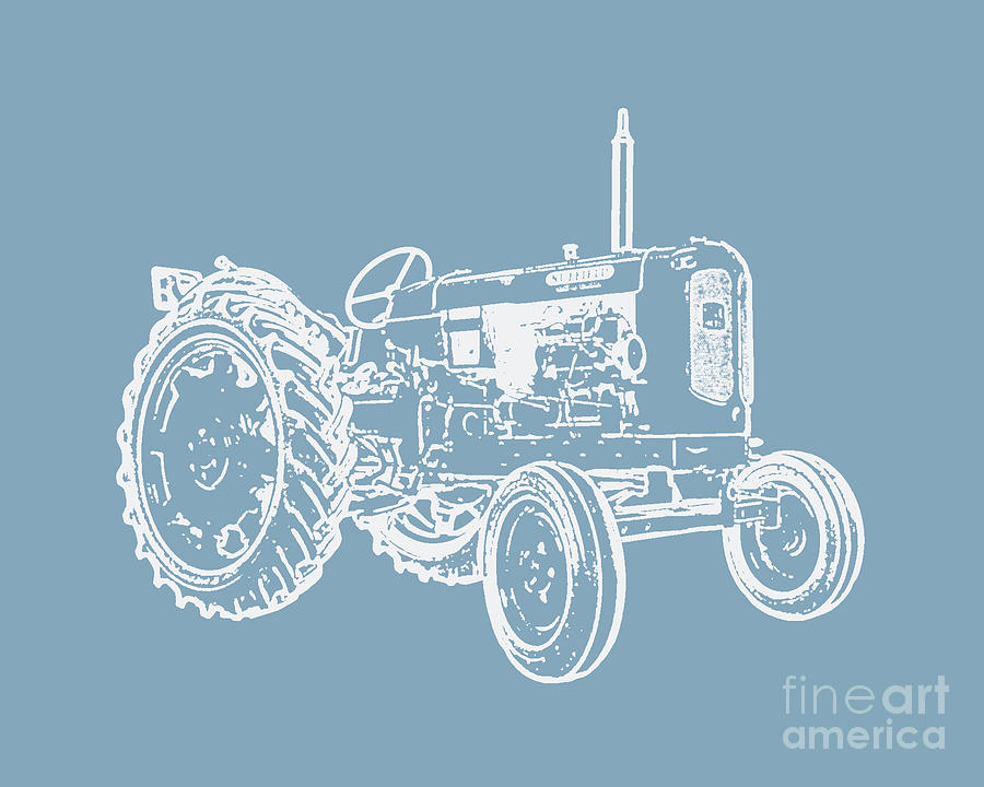 Tractor Photograph - Vintage Tractor Pop Art by Edward Fielding