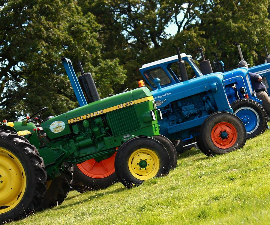 Vintage Photograph - Vintage Tractors by Art  Creations