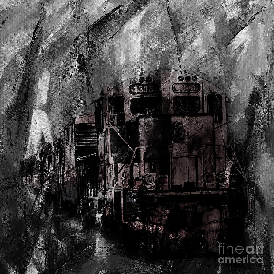 Automotive Painting - Vintage Train 07 by Gull G