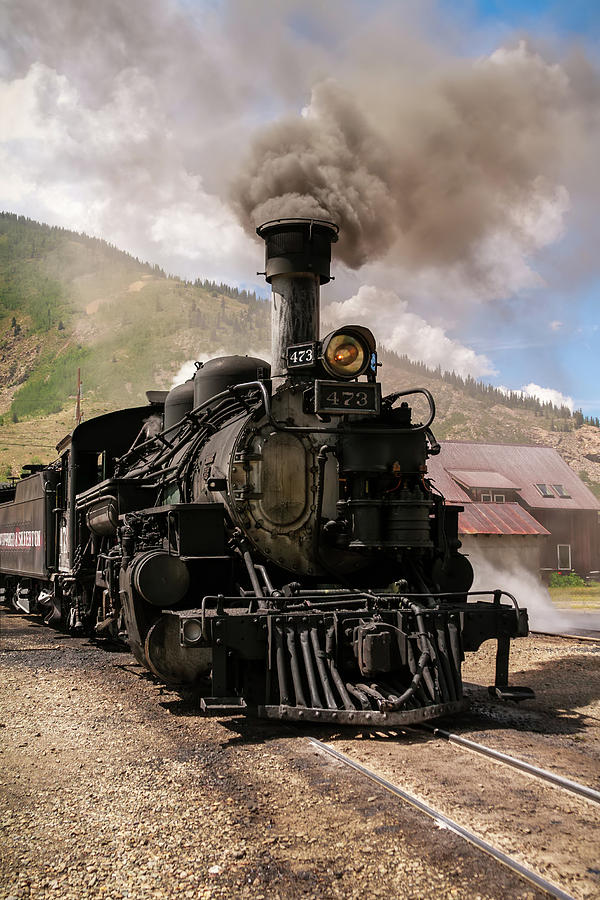 Train Photograph - Vintage Train Engine by K Pegg