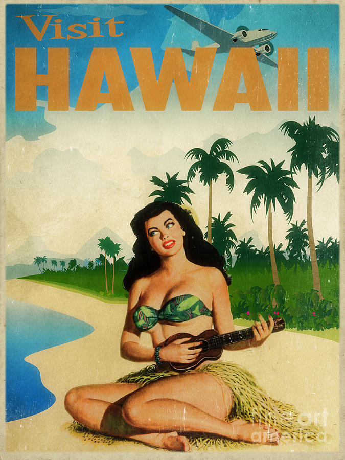 Hawaii Painting - Vintage Travel Hawaii by Cinema Photography