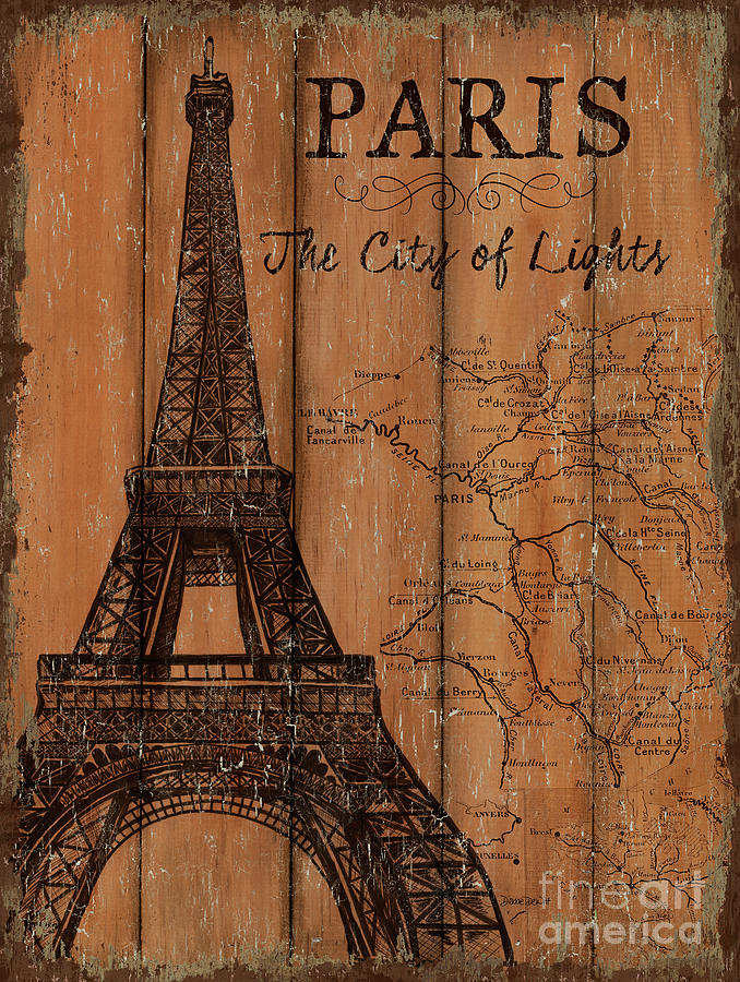 Paris Painting - Vintage Travel Paris by Debbie DeWitt