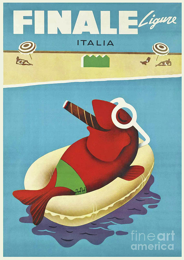 Vintage Travel Poster Painting - Vintage Travel Poster Italy by Mindy Sommers