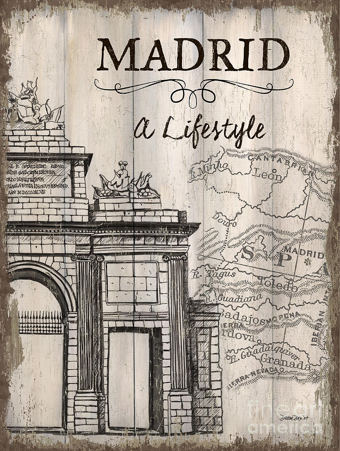 Madrid Painting - Vintage Travel Poster Madrid by Debbie DeWitt