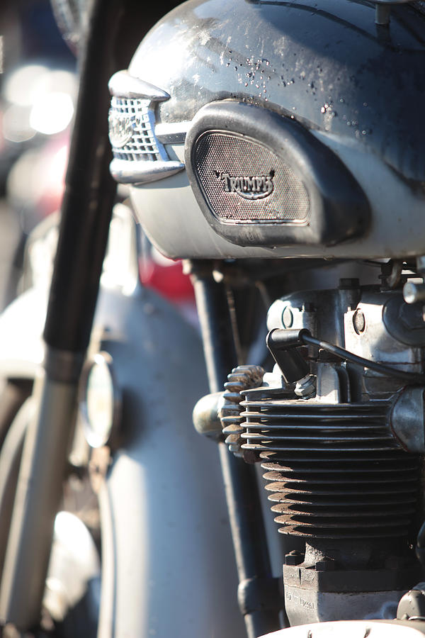 Triumph Photograph - Vintage Triumph by Keith May