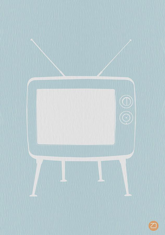 Kids Digital Art - Vintage Tv Poster by Naxart Studio