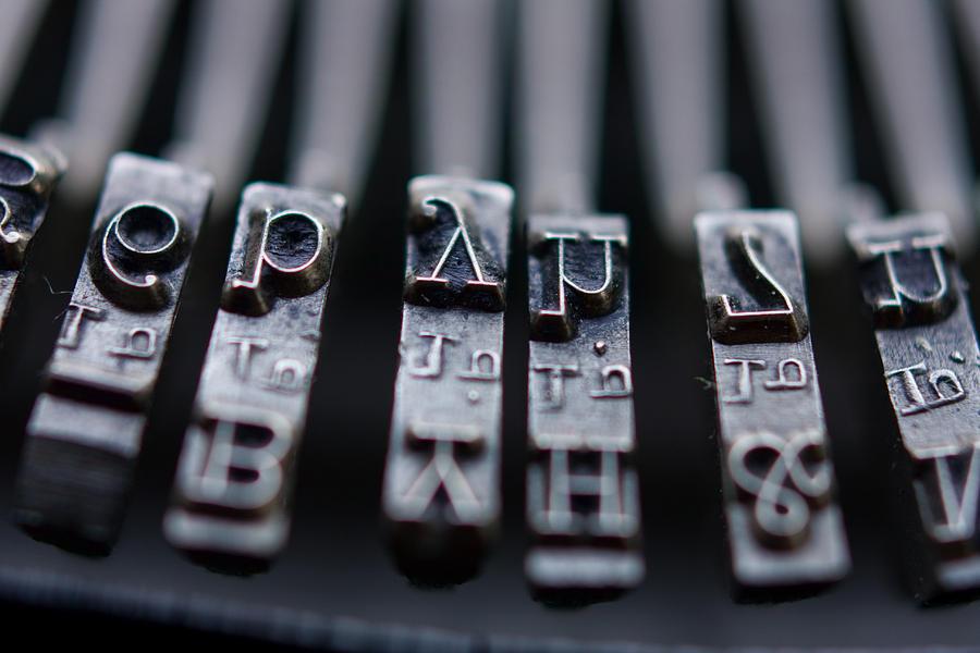 Typewriter Photograph - Vintage Typewriter Keys by June Marie Sobrito