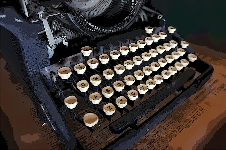 Vintage Underwood Typerwriter Keys Photograph by Priscilla Wolfe