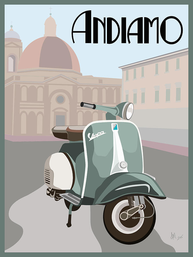 Vintage Vespa by Ian Mutton