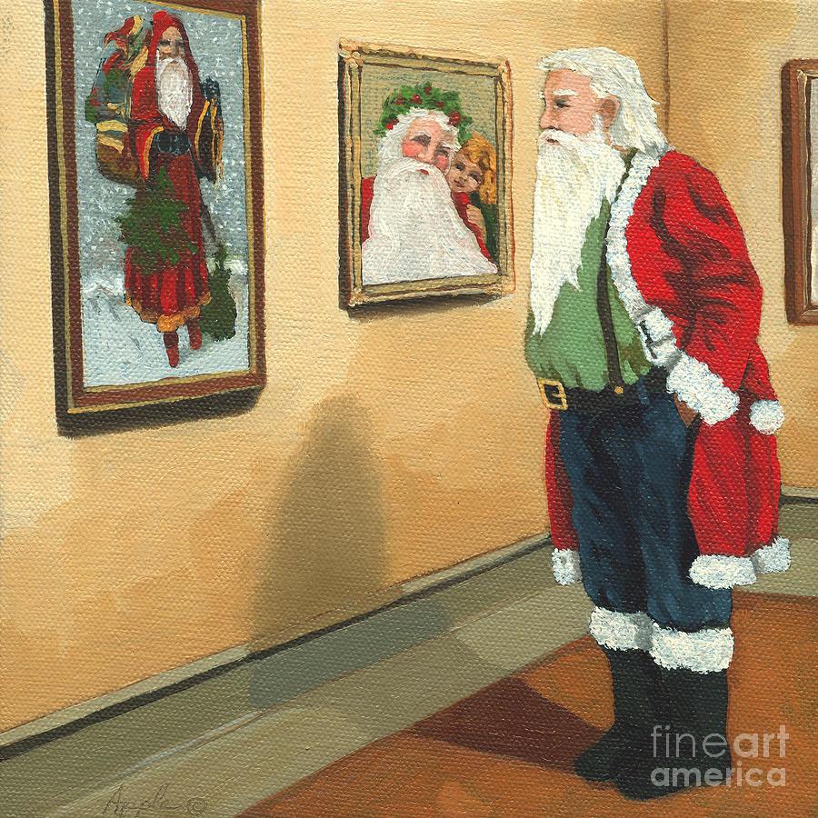 Santa Painting - Vintage Victorian - Museum Santa by Linda Apple