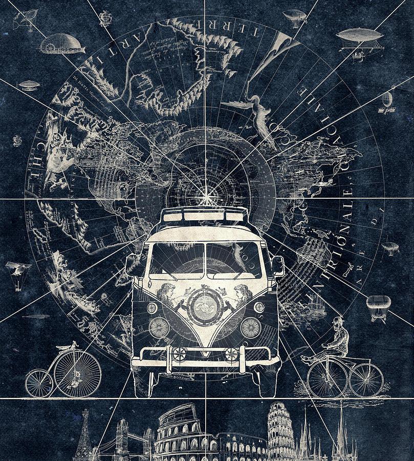 Vintage Voyager Digital Art