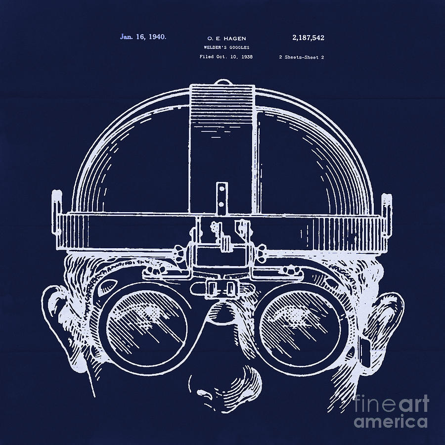 Vintage welders goggles blueprint detail drawing digital art by protective goggles digital art vintage welders goggles blueprint detail drawing by tina lavoie malvernweather Image collections