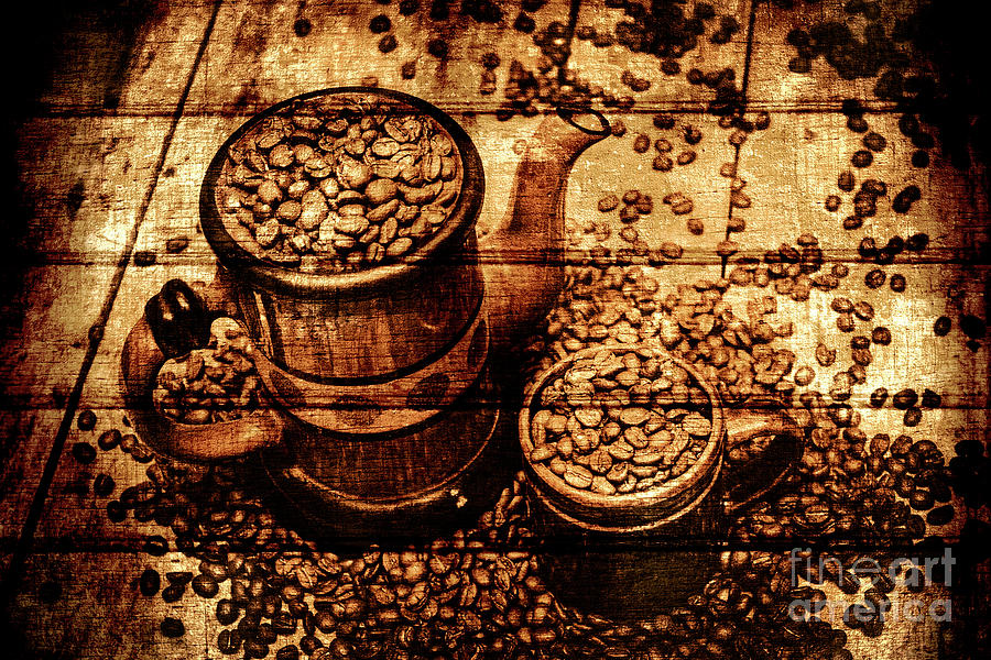 Vintage Wooden Coffee Shop Sign By Jorgo Photography Wall Art Gallery