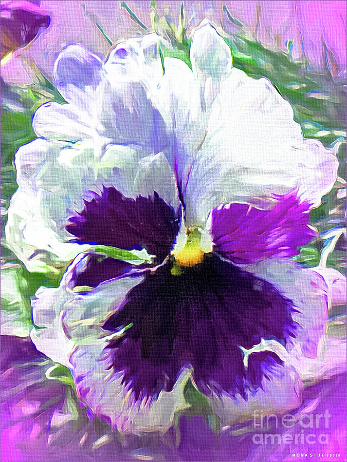 Viola Orchid Portrait Mixed Media