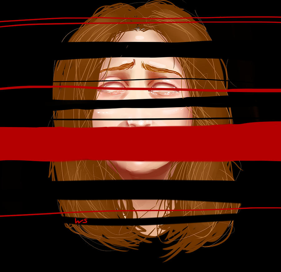 Woman Digital Art - Violator Of The Terms Of Service  by Willow Schafer