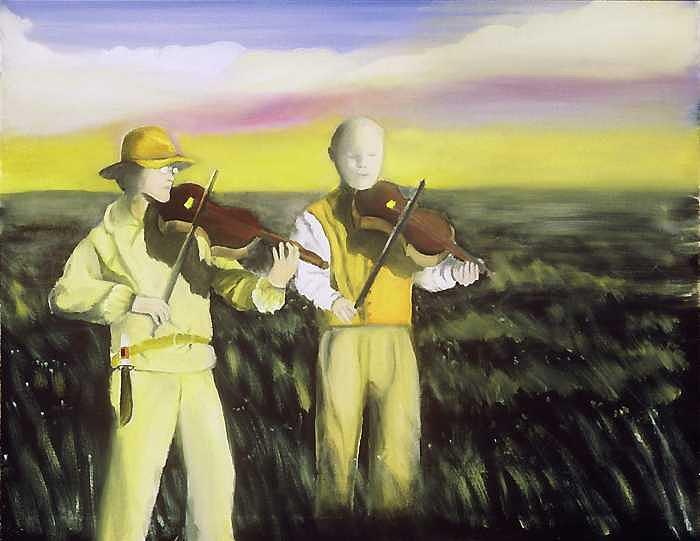 Violenists Painting by Sam  Cole
