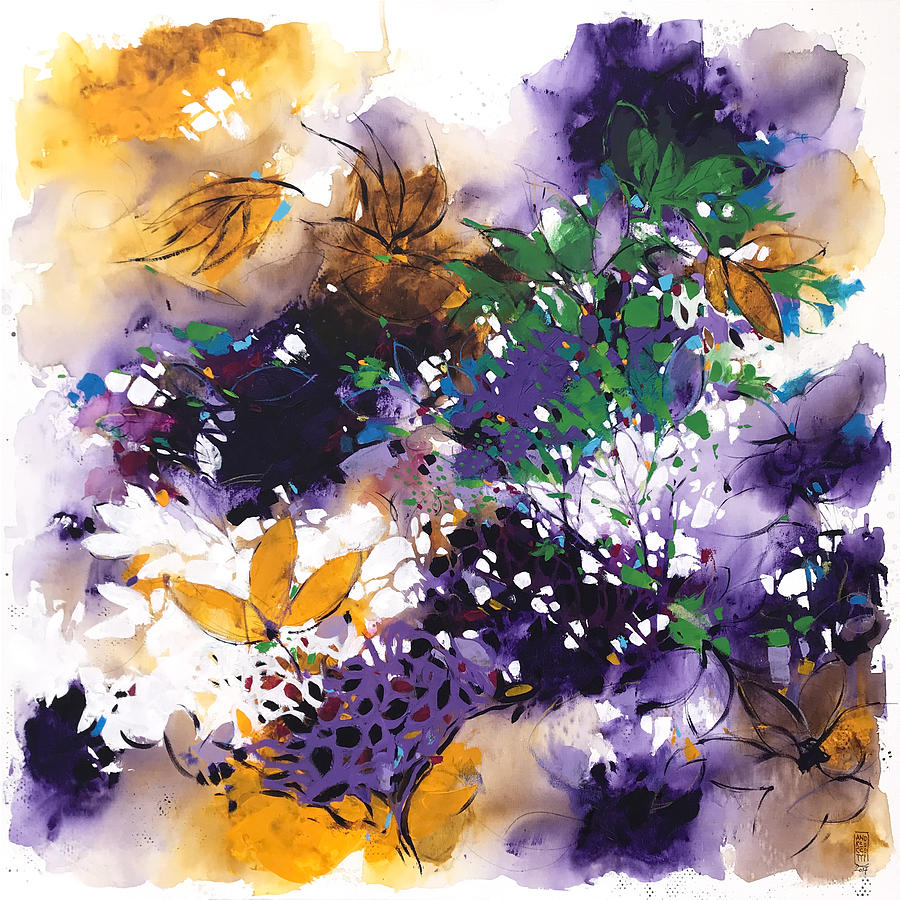 Nature Painting - Violet by Alessandro Andreuccetti