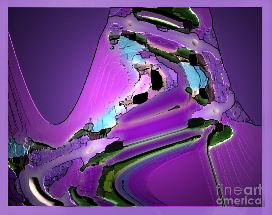 Abstract Digital Art - Violet by Aline Pottier  Gama Duarte
