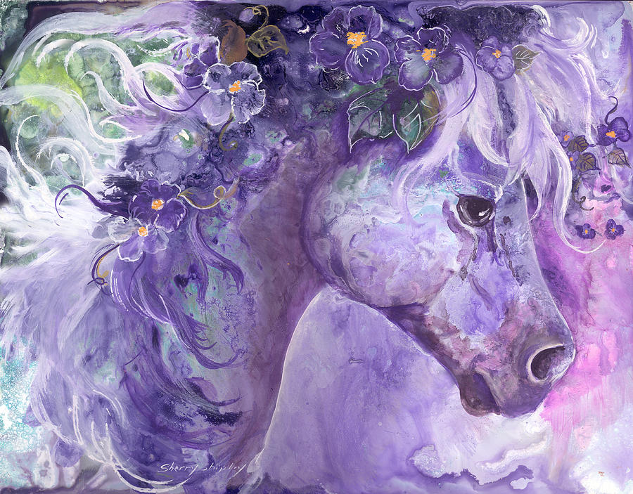 Violet Fantasy Painting By Sherry Shipley