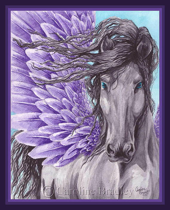 Violet Feathers Painting by Caroline Bradley