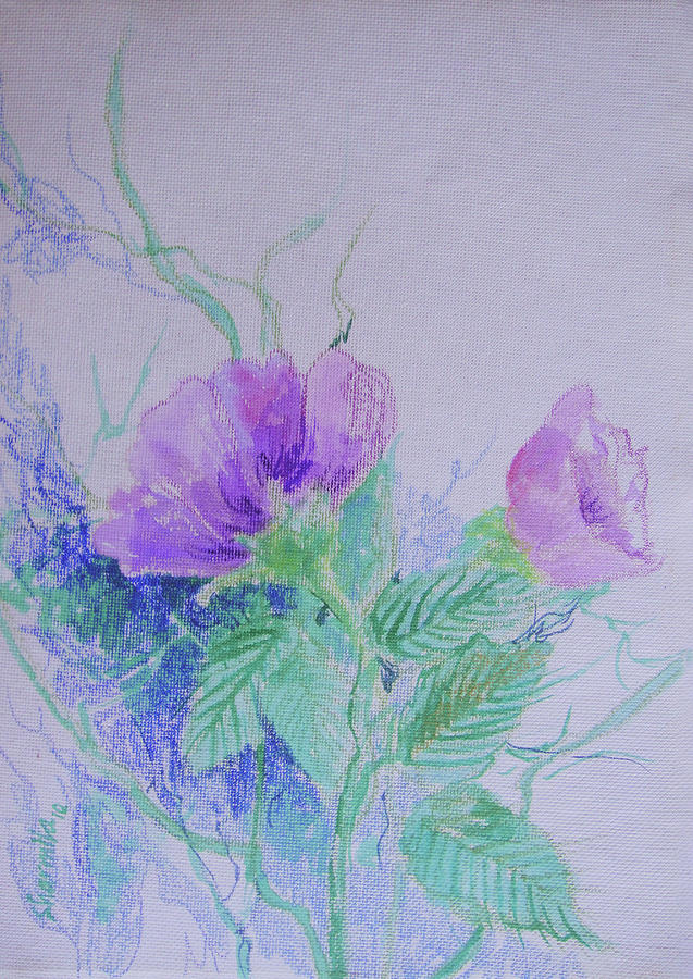 Violet Painting - Violet Flowers by Sharmila L
