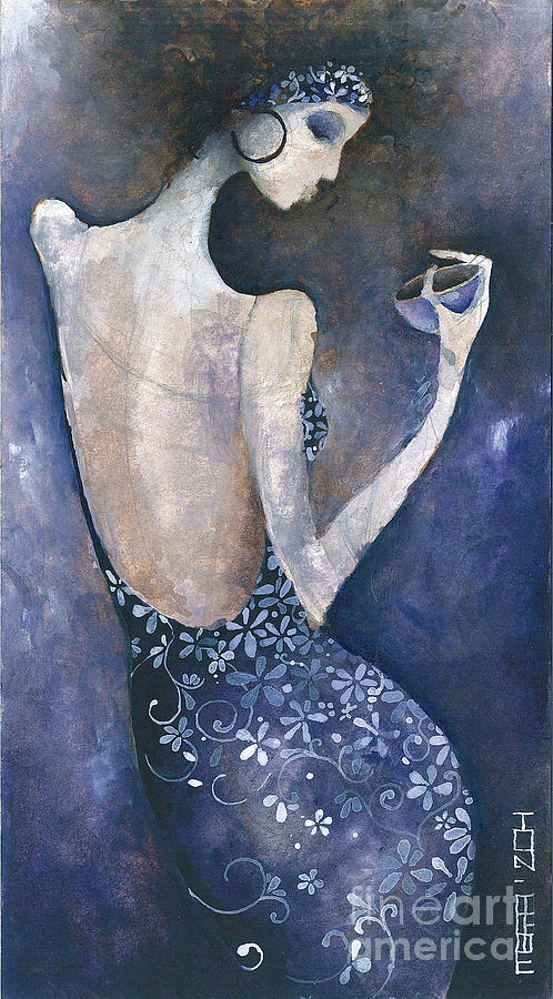 Woman Painting - Violet Inspiration by Maya Manolova