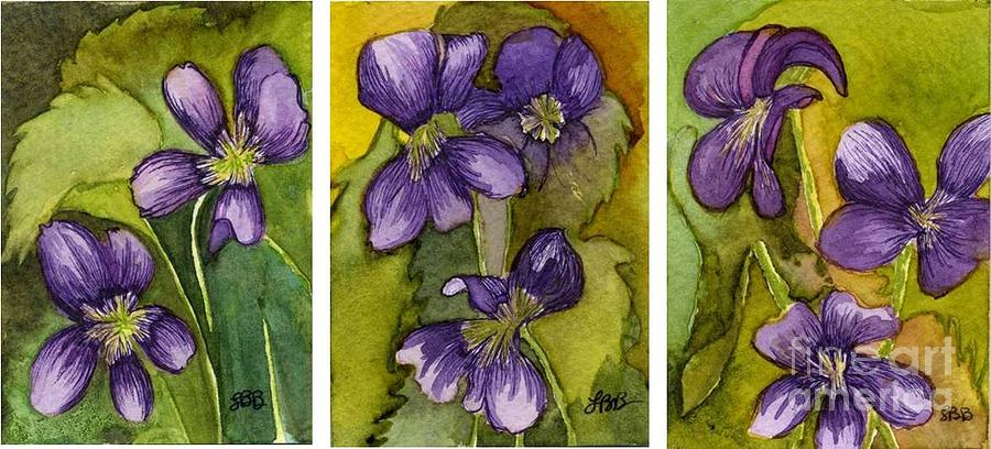 Flowers Painting - Violet Jane Mini Trip by Lisa Bell