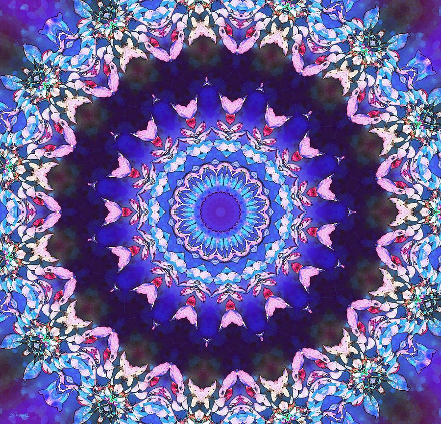 Kaleidoscope Digital Art - Violet Lace by Shawna Rowe