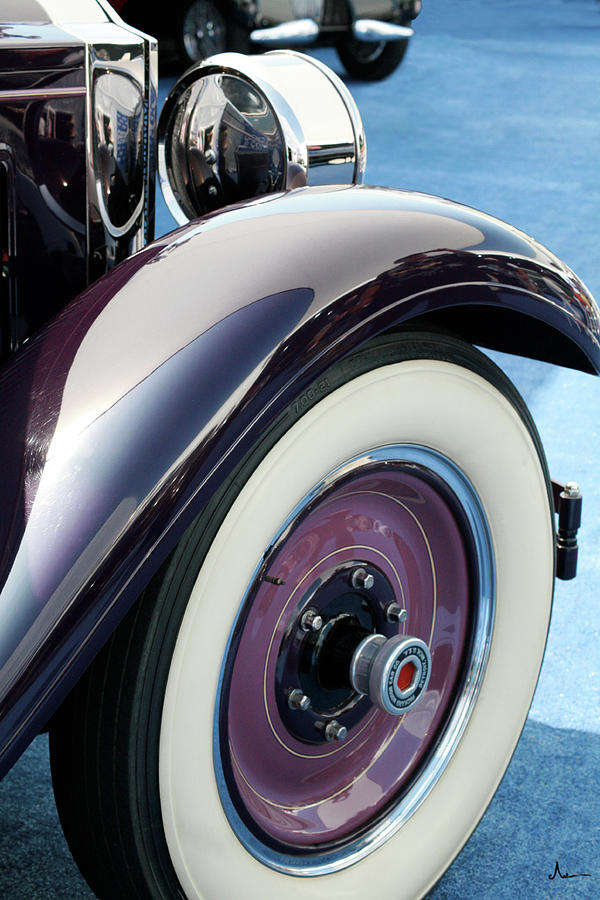 Vintage Car Photograph - Violet Packard by Ave Guevara
