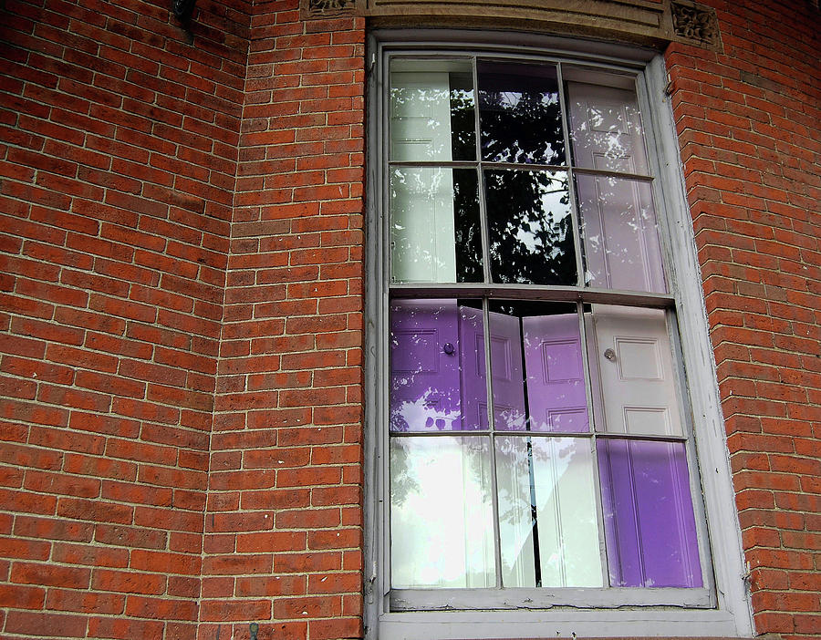 Boston Photograph - Violet Panes by JAMART Photography