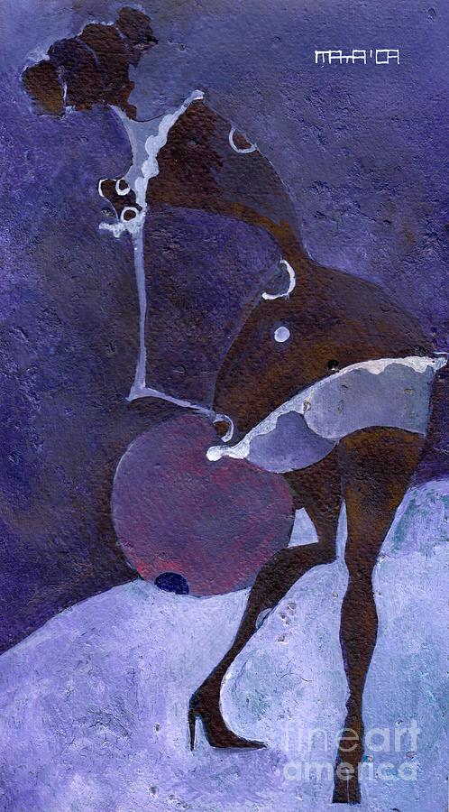 Violet Painting - Violet Snawball by Maya Manolova