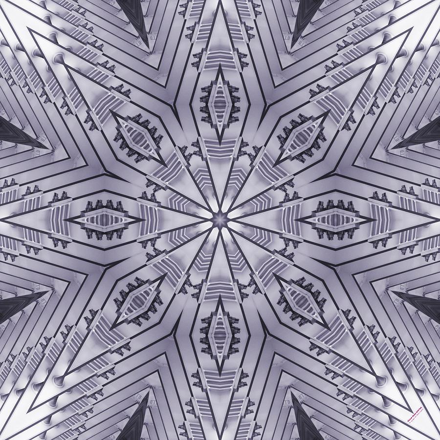 Steel Digital Art - Violet Steel 2367k8 by Brian Gryphon