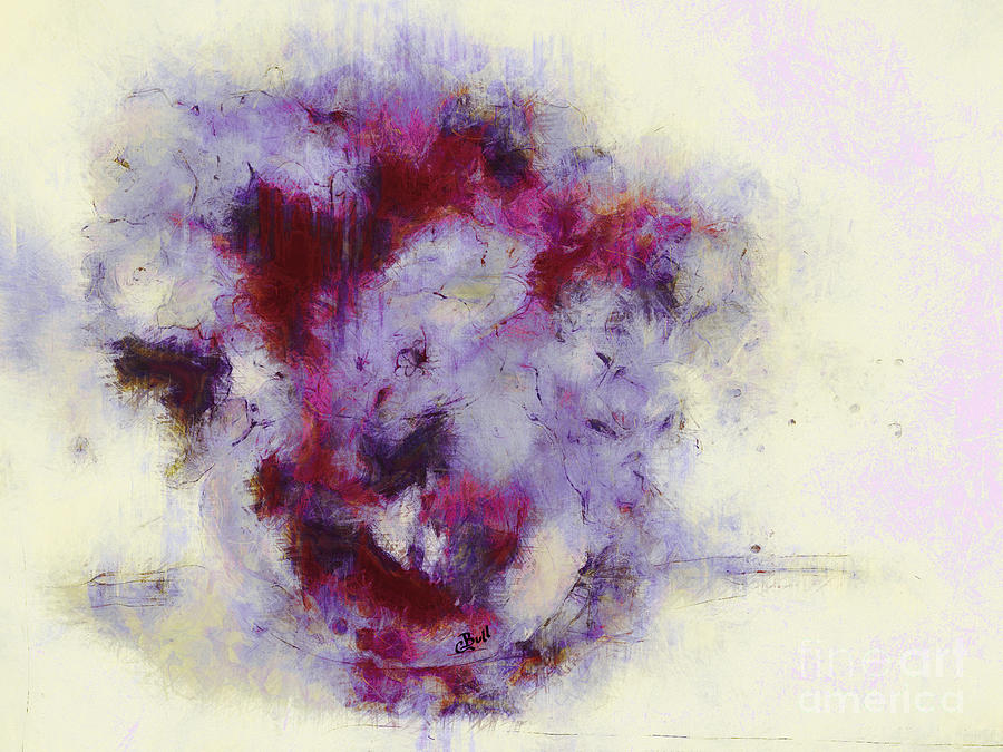 Violets Digital Art - Violets Abstract by Claire Bull