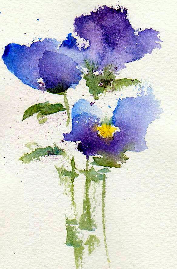 Violets Painting - Violets by Anne Duke