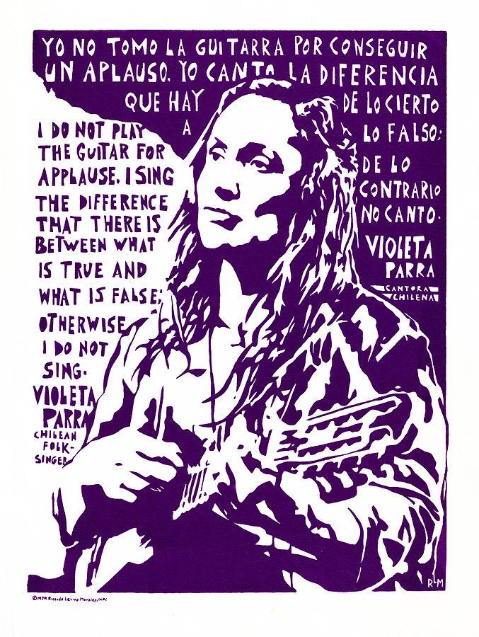 Violetta Parra Mixed Media - Violetta Parra by Ricardo Levins Morales