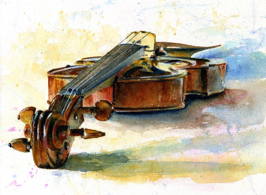 Violin 2 Painting By John D Benson