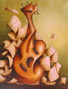 Violin Painting - Violin by Rui Carruco
