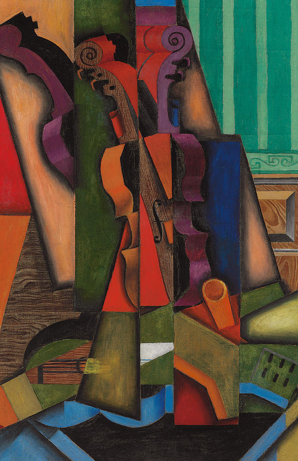 Abstract Painting - Violin and Guitar by Juan Gris